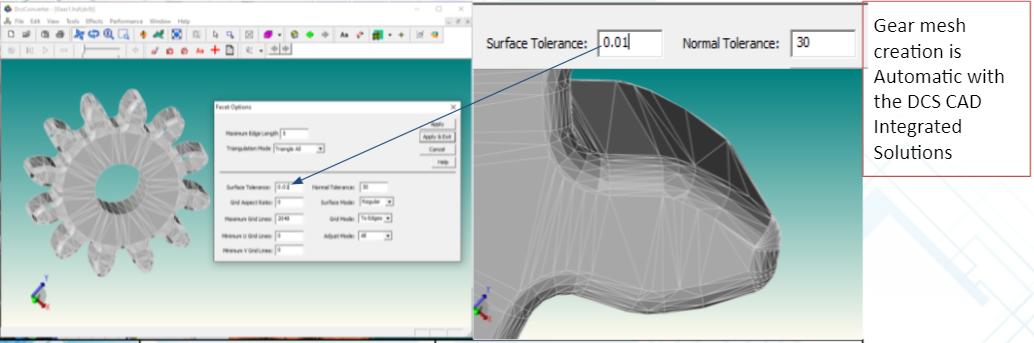 Gear Module - Meshing with 3DCS