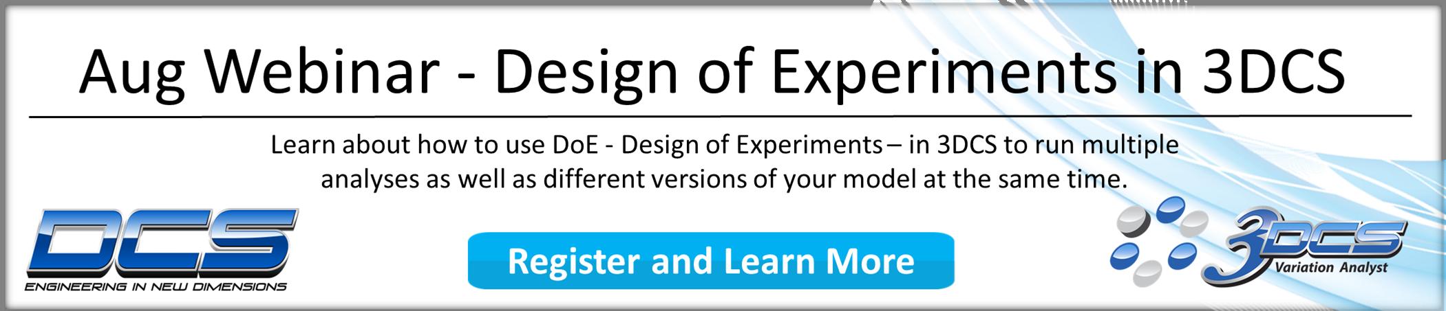 Aug Webinar - Design of Experiments in 3DCS