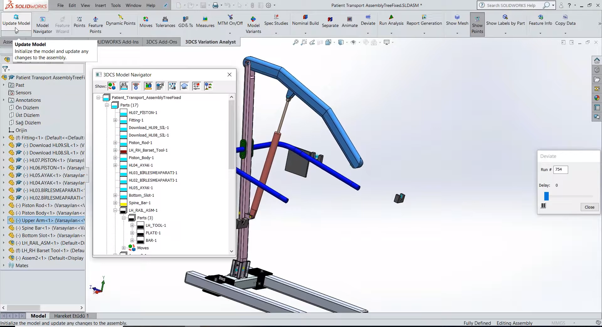 3dcs-solidworks-update-model