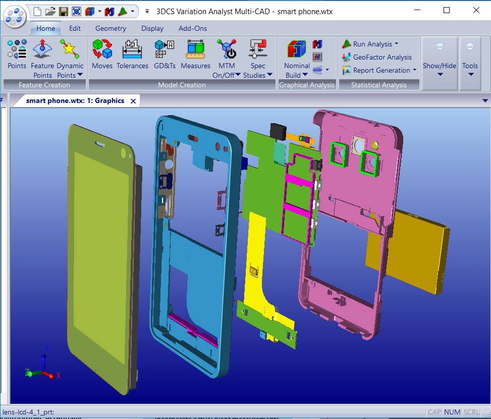 3DCS Multi-CAD Assembly Analysis
