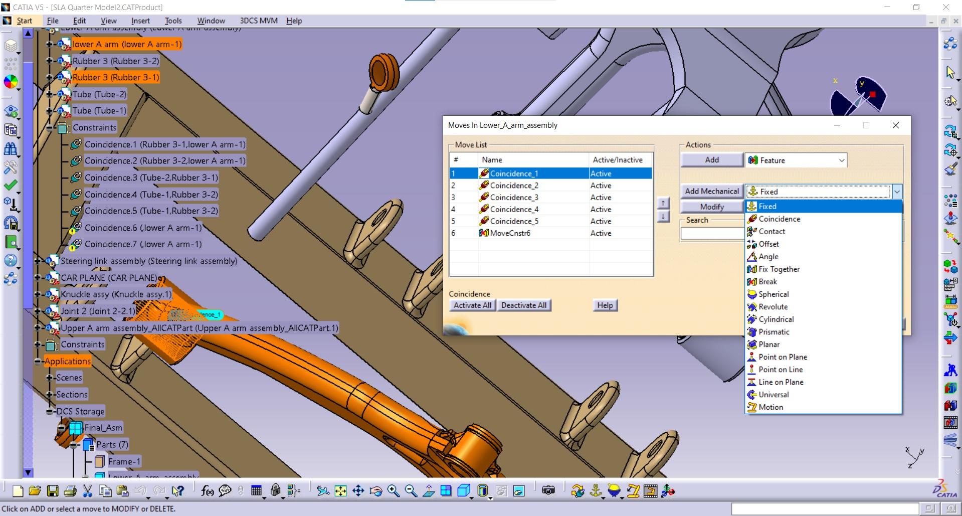 DCS MVM Mechanical Move library