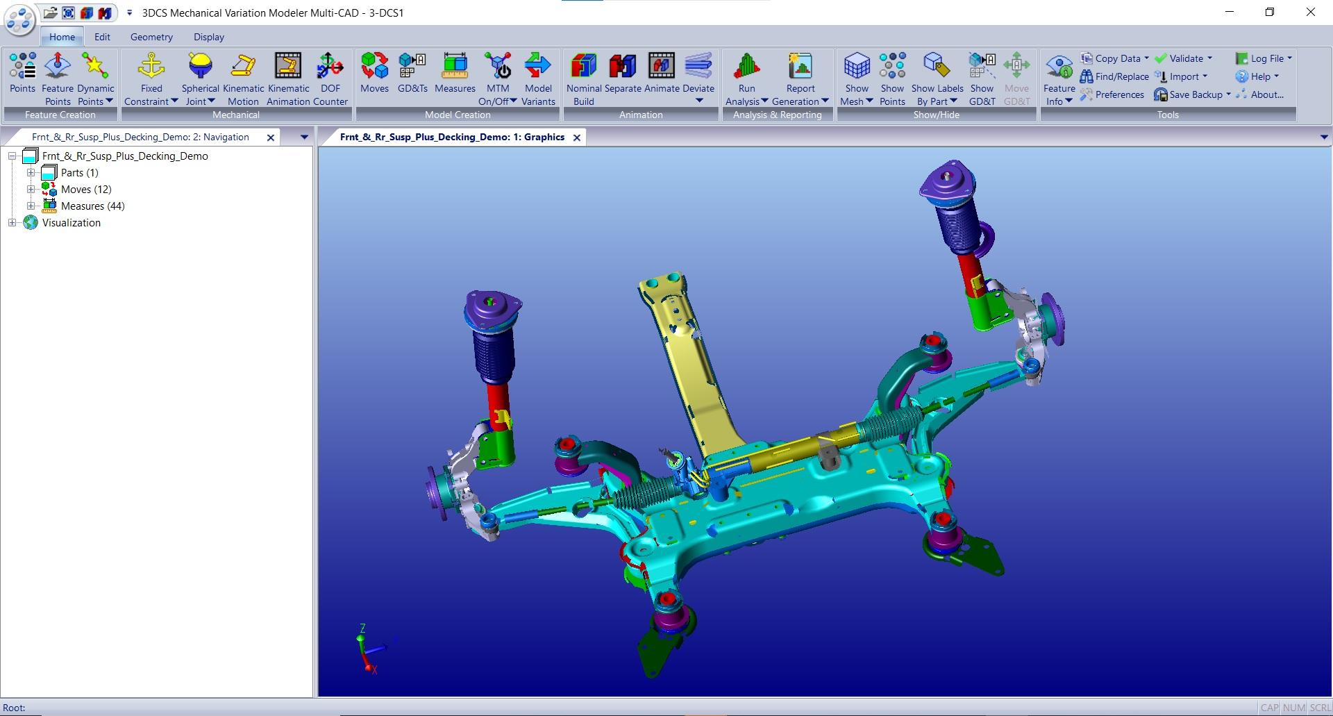 Suspension in 3DCS MVM Multi-CAD