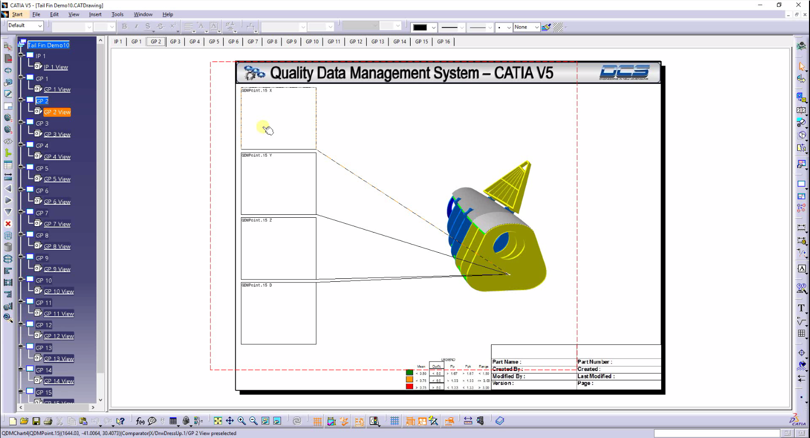 CATIA integrated inspection plans