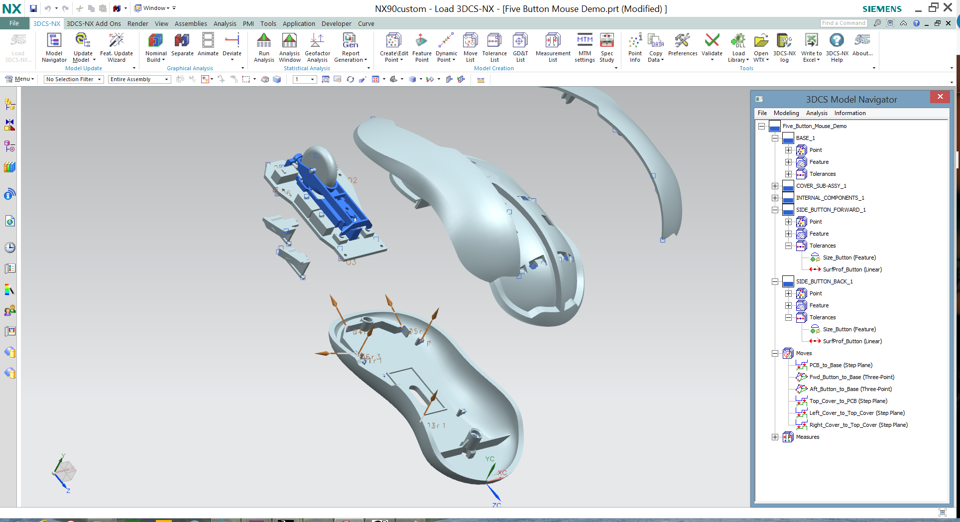 NX - Mouse Electronics Tolerance Analysis