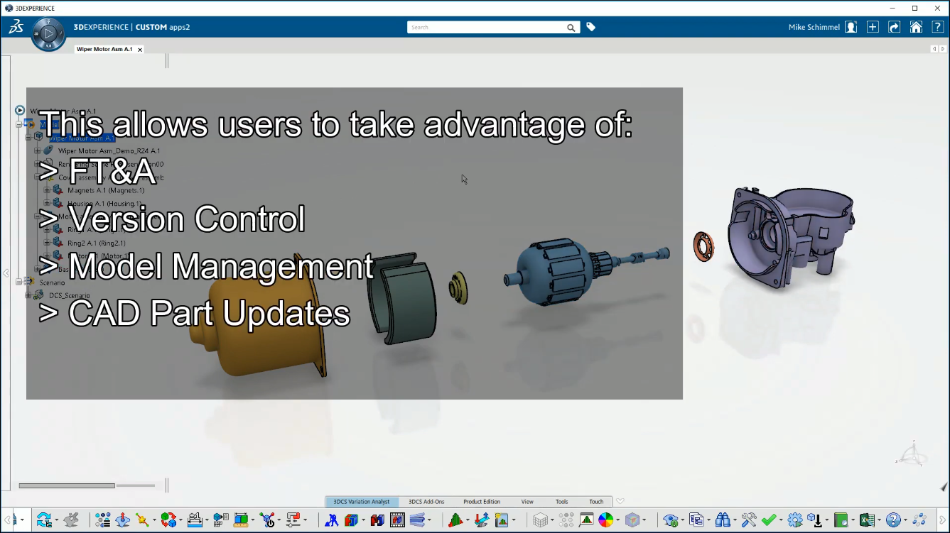 3DCS Fully Integrated in the 3DEXPERIENCE