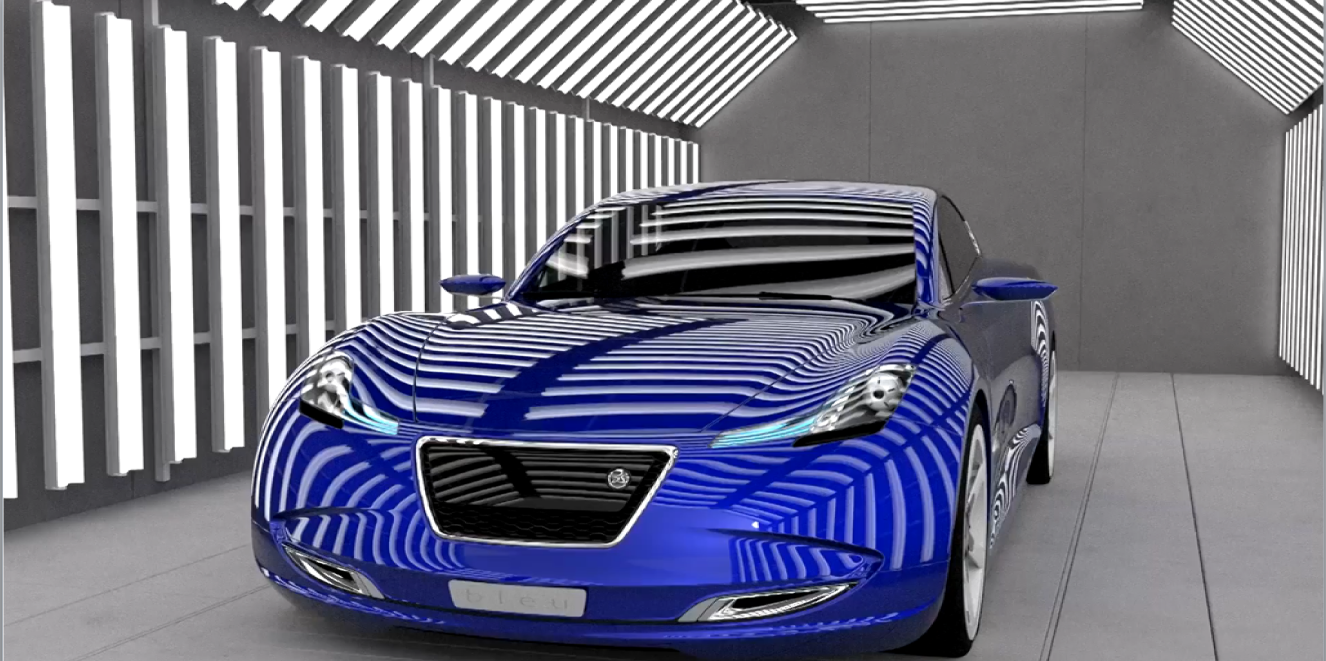Dassault Bleu Car in 3DEXPERIENCE