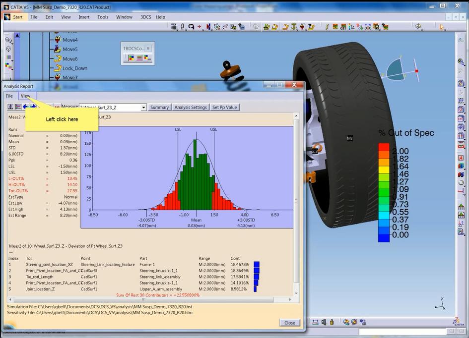 3DCS Monte Carlo simulation