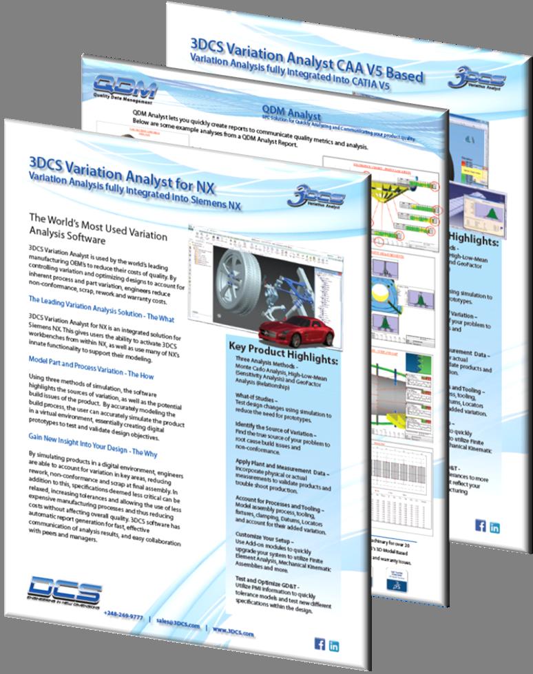 3DCS and QDM Software