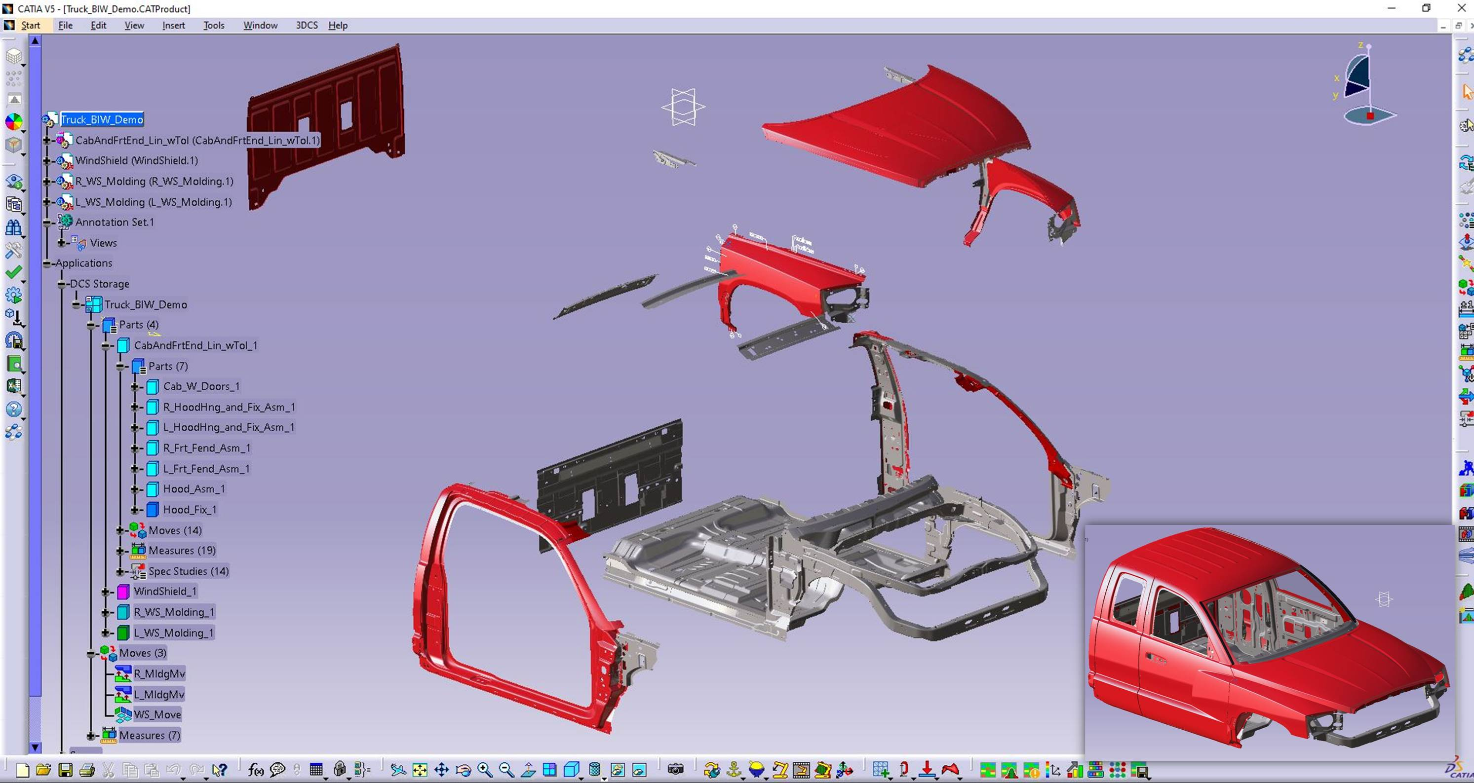 Red Truck assembly-pip