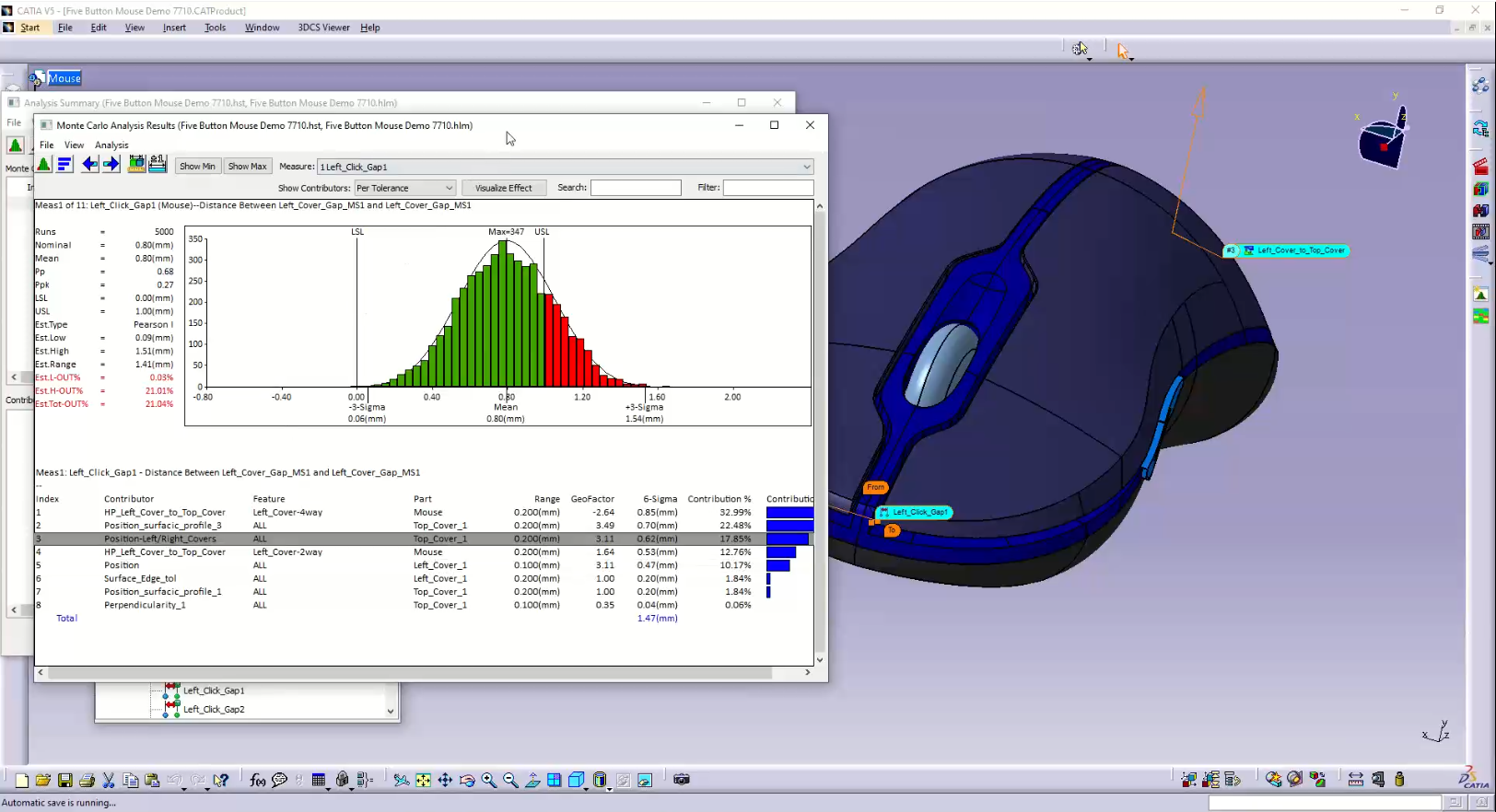 Mouse Model in 3DCS Viewer