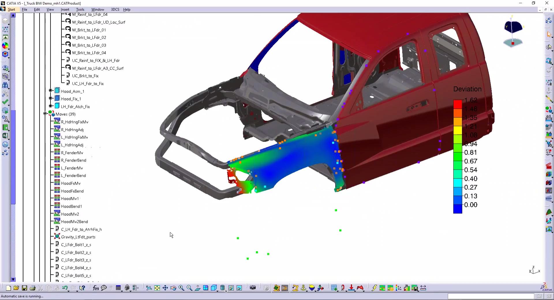 3DCS VA - Truck Fender FEA Analysis