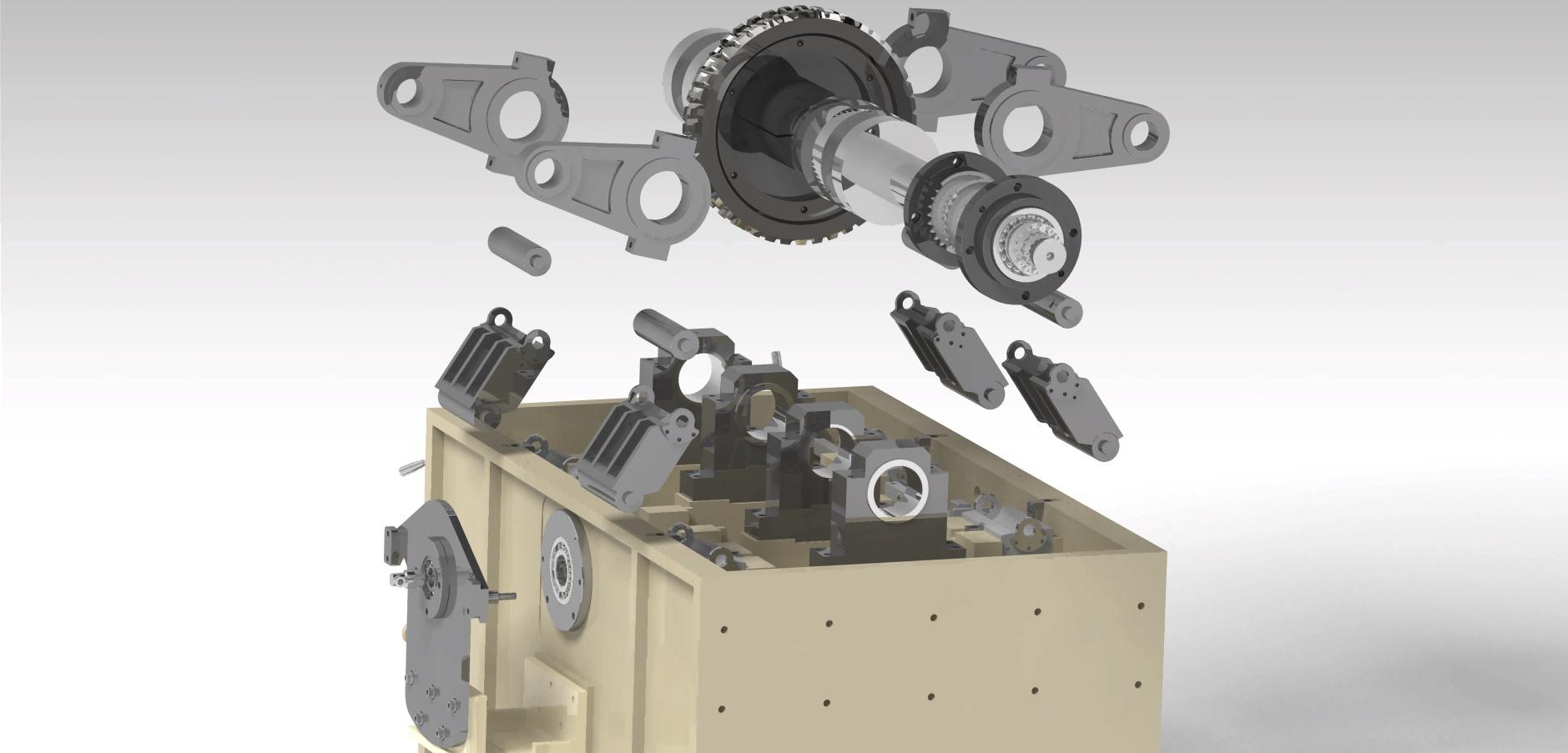 Box cutter machine assembly