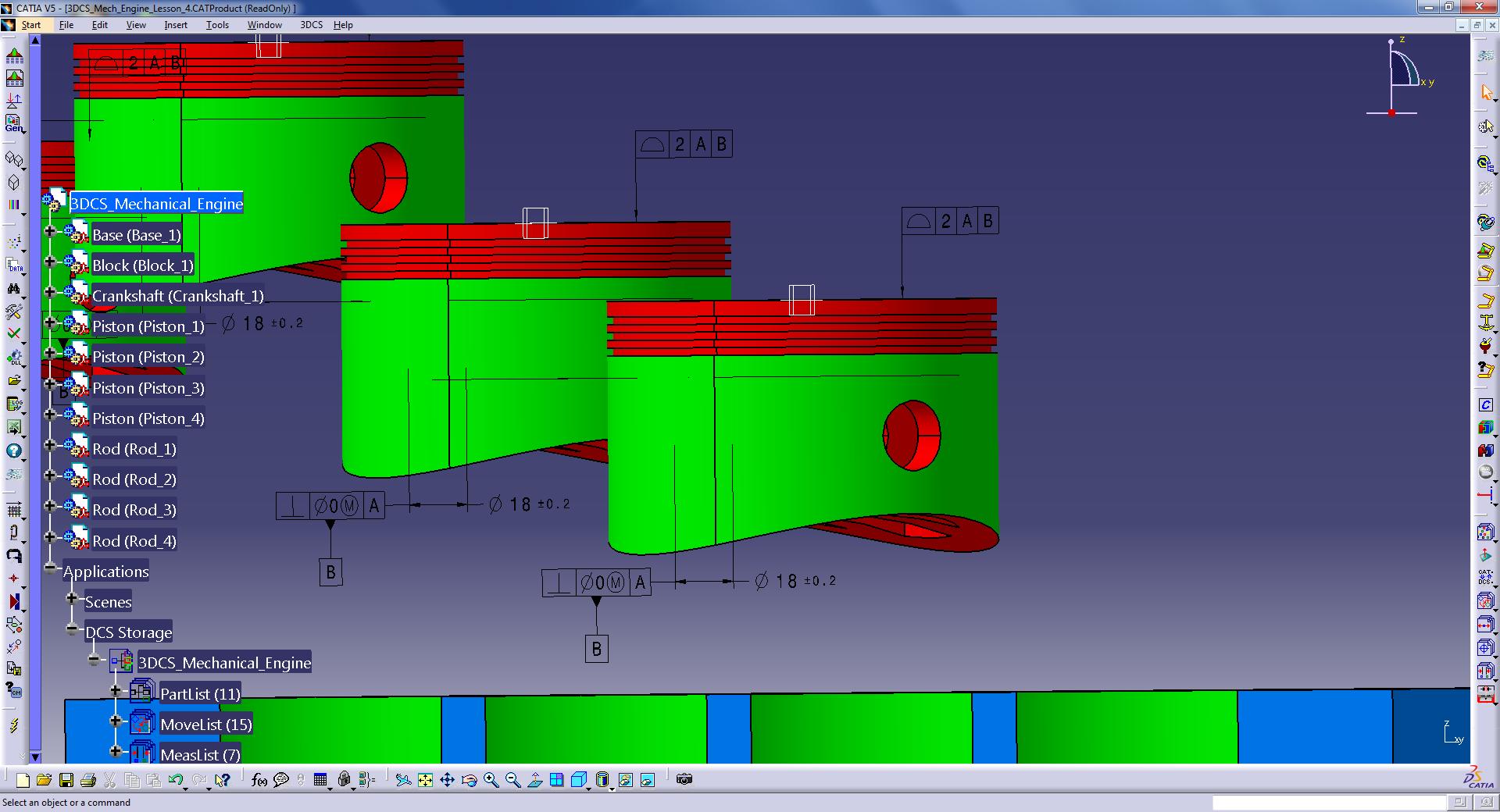 Piston head GD&T optimization